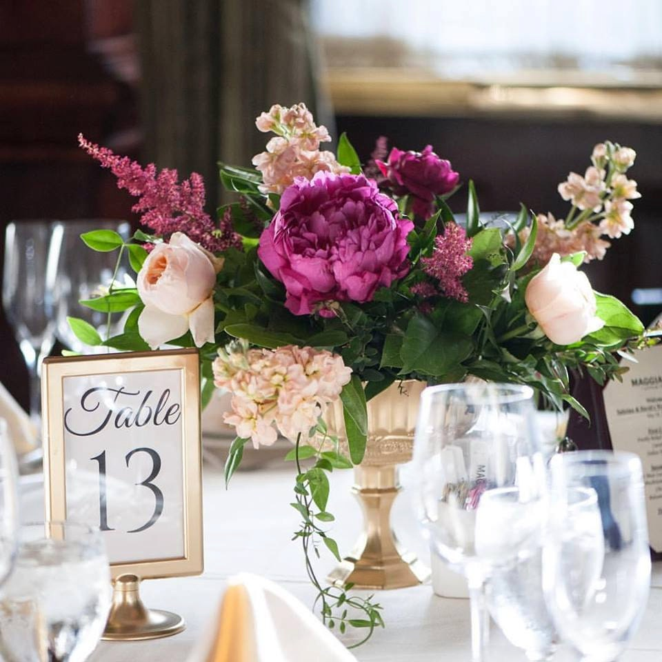 Wedding Centerpieces: Wedding Centerpieces / Gold Mercury Glass / Wedding Vases