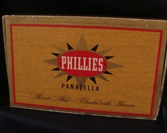 1957 Phillies Panatella Cigar Box