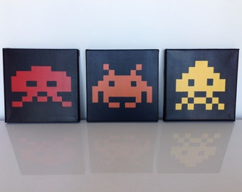 Tables Space invaders 20x20cm, 30x30cm and 40x40cm