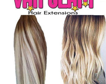 """Balayage, Weft, Sew In, Extensions, 20"""", European Remy Hair"""