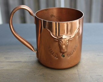 Bull Dozer Copper mug