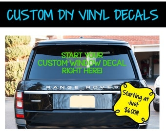 Custom Vinyl Car Decal Business Decals Vehicle Window - Custom vinyl window decals