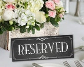 Reserved Sign Tent Cards Printable Chalkboard Wedding Signs Instant Download Ready to Print (#RSV3C)