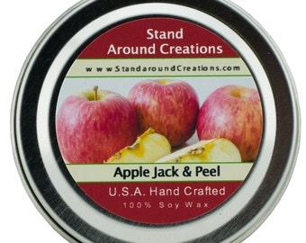 Premium 100% Soy Candle - 2oz Tin - Scent: Apple Jack & Peel