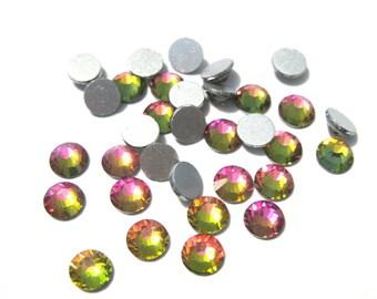 Rainbow Glass Flatback Rhinestone -A Grade SS20 (4mm)No-Hotfix