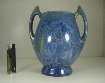 French Pierrefonds Crystllized Pottery Amphora Circa 1910-1920 Art Nouveau