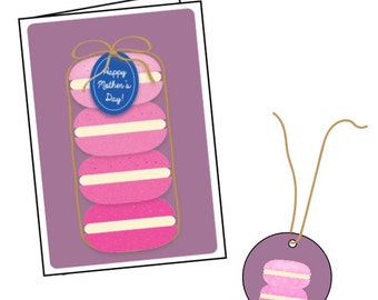 Ombre Macaron Stack | Card and Gift Tag Set | Mother's Day