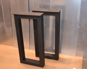 Steel Desk Legs, Rectangular Metal Style - Any Size/Color!