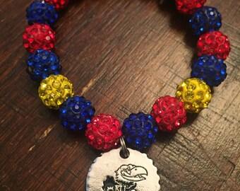 KU charm bracelet