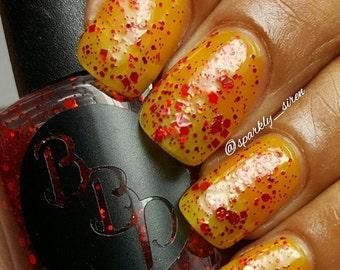 ANNUAL SALE Cherry- Red Glitter Nail Polish- Glitter Bomb- Red Glitter Bomb- Red Nail Polish