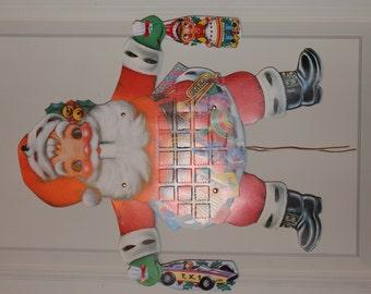 Rare Vintage GEMO Santa Advent Calendar No. 6806