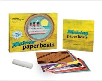 Origami, Making Paper Boats. Paper Boats That Float. Origami KIT Paper Boats.
