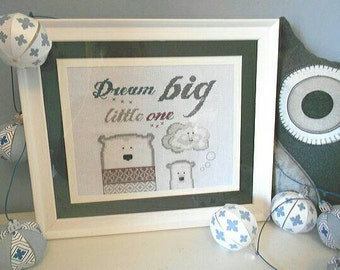 dream big little one cross stitch pattern downloadable pattern little beach hut