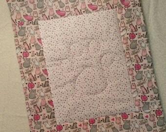 Pet Blanket, Cat Blanket, Crate Pad, Blanket, Carrier Pad, Pink