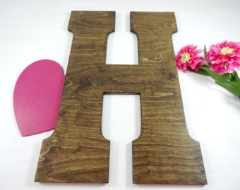 Wedding Signature Letters - Large Wood Letters - Rustic Wedding Letters - Photo Props - Wall Letters - Wall Hangers - Home Decor - Gifts