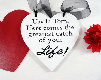 Wedding Signs Rustic Wedding Signs Ring Bearer Signs Flower Girl Signs Custom Wedding Photo Prop Here Comes The Greatest Catch of Your Life!