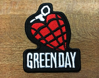 New GREEN DAY American Idiot Rock Heavy Metal Band Logo Patch Iron on Jacket#03