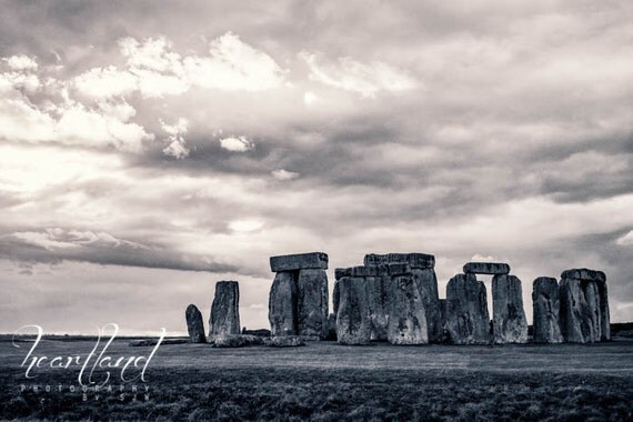 Black and White,  Landscape Images, Stonehenge Photos, Great Britain Pictures, Moody Photography, English Art, Historical Landmarks, Cloudy