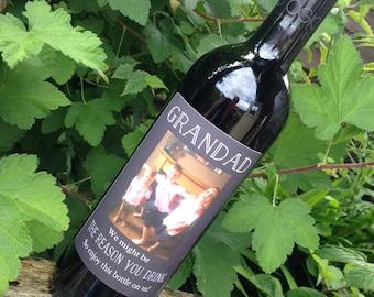 Grandad / Dad - Personalised Wine Bottle Label