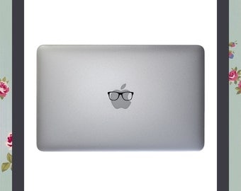 Mac Decal, Hipster Glasses, Nerd, Apple Macbook and other laptop sticker, Mac Stickers