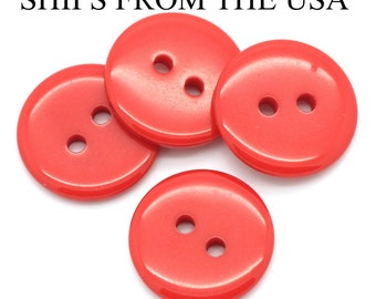 "50 3/4"" Bulk Red Buttons 18mm Red Plastic Buttons  Bulk Red Buttons Wholesale Buttons 3 4 inch black Red Buttons"