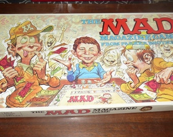 Vintage Mad Magazine Board Game, What-Me Worry, 1979 Parker Brothers, Complete Set - Good Used Vintage Condition!