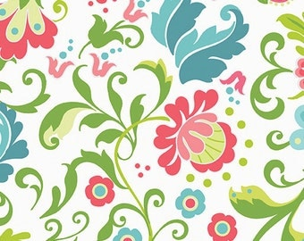 1/2 yard Feathers and Flourish Flourishes in White  1061-09 from Contempo of  Benartex designed by Amanda Murphy