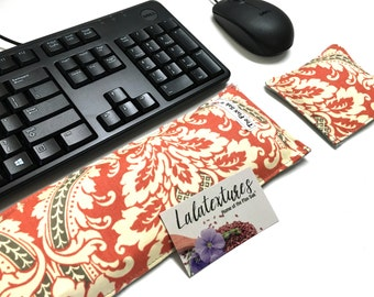 Keyboard Pad Mouse Pad - Ergonomic Wrist Rest Heat Pack - wrist support - back to school - computer and desk accessory- dorm room ideas