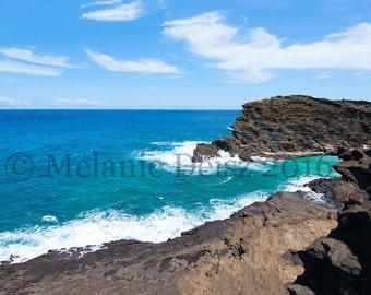 Hālona Blowhole near Hanauma Bay in Oahu, Hawaii