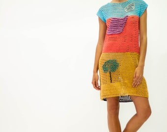 Dress made  of recicle cotton / vestido elaborado en algodón reciclado