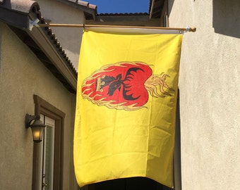 Stannis Flaming Heart Flag