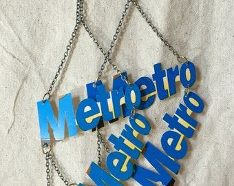 Metrocard Earrings (Chandelier) Handmade