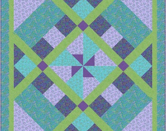 Windmill Quilt Pattern - INSTANT DOWNLOAD