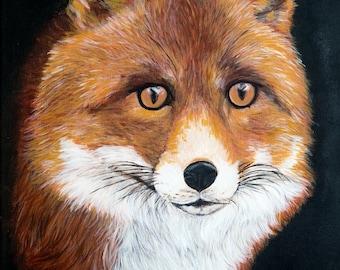 Mr Fox Acrylic Art Unframed Print