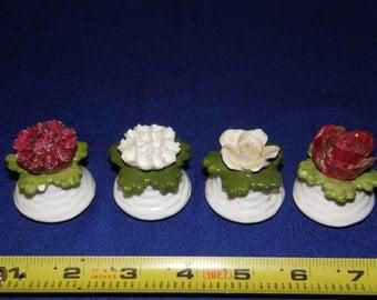 Set of 4 Petite Royal Adderley Flower Salt and Pepper Shakers