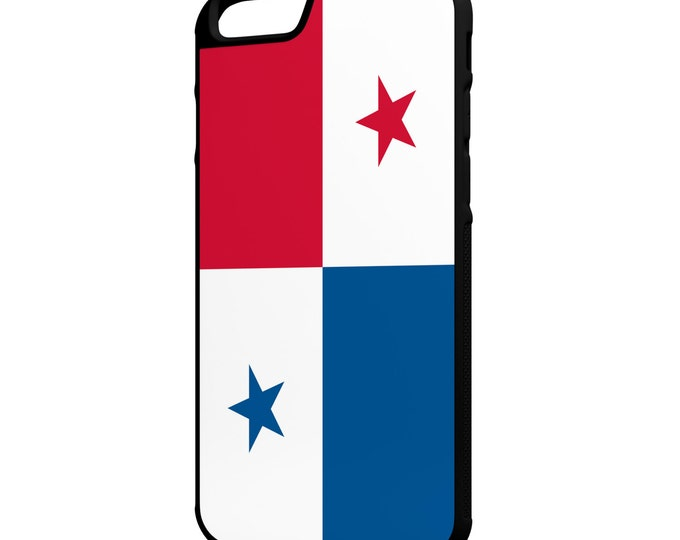 Flag of Panama iPhone Galaxy Note LG HTC Hybrid Rubber Protective Case
