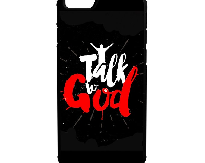 Talk to God iPhone Galaxy Note LG HTC Hybrid Rubber Protective Case