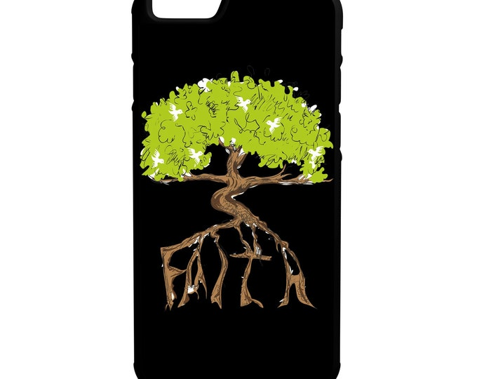 Faith Tree iPhone Galaxy Note LG HTC Hybrid Rubber Protective Case