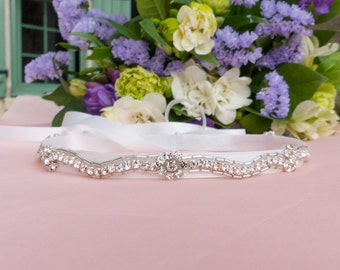 Jeweled headband, Swarovski headband, wedding headband, bridal headband, flower girl, first communion, rhinestone headband
