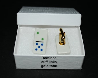 Mens' Dominoe Jewelry...cuff links or tie-tac/hat pin
