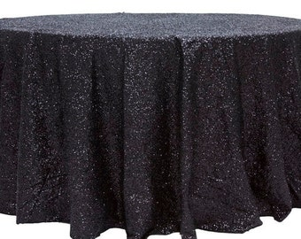 Black Sequin Tablecloth, Free Shipping, Black Tablecloth, Sparkly Tablecloths, Cake Table, Head Table, Fall, Spring, Summer Wedding