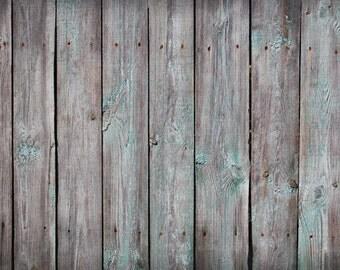Vintage Wood Planks Photo Background, Weathered Painted Wood Floordrop, Newborns Food Product Photography Backdrops XT-4982