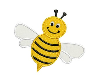 Bumble Bee Applique Machine Embroidery Digital Design Insect Bug