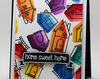 Home Sweet Home colorful Card
