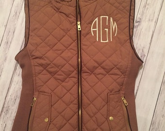 Monogrammed Quilted Puffer Vest