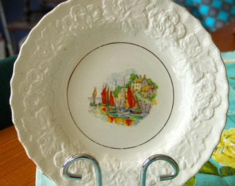 Vintage 1930's embossed Sail Boat Alfred Meakin of England Plate