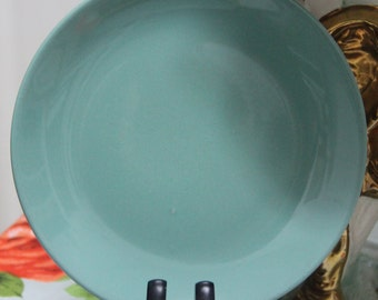 NZ Colour Glaze Ceramic Turquoise  Bread  Plate