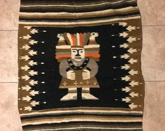 Vintage Mexican Wool Rug