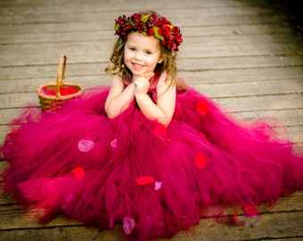 Burgundy Flower Girl Dress, Marsala Flower Girl Dress, Flower Girl Tutu Dress, Infant Flower Girl Dress