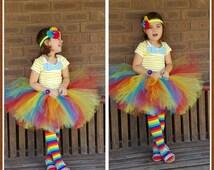 Rainbow Tutu Skirt Adult Rainbow tutu Teen Tutu Clown Costume - Little pony tutu
